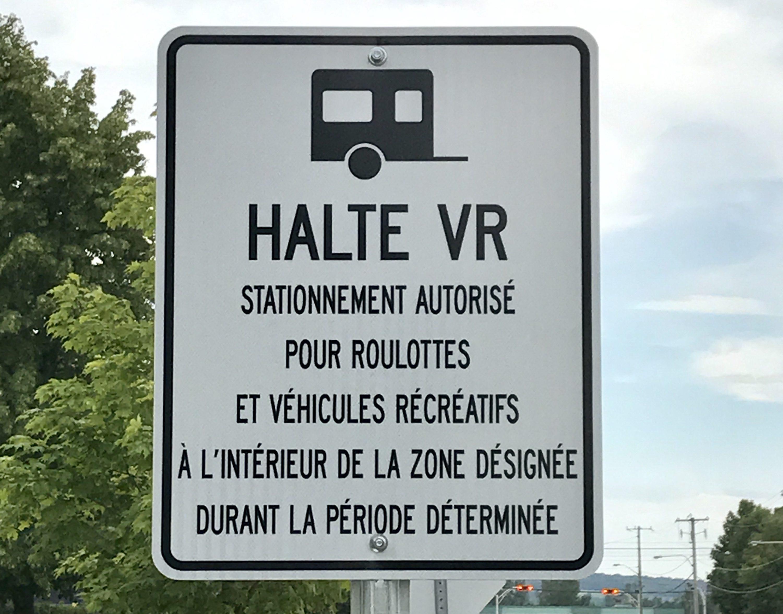 Stationnement pour véhicules récréatifs