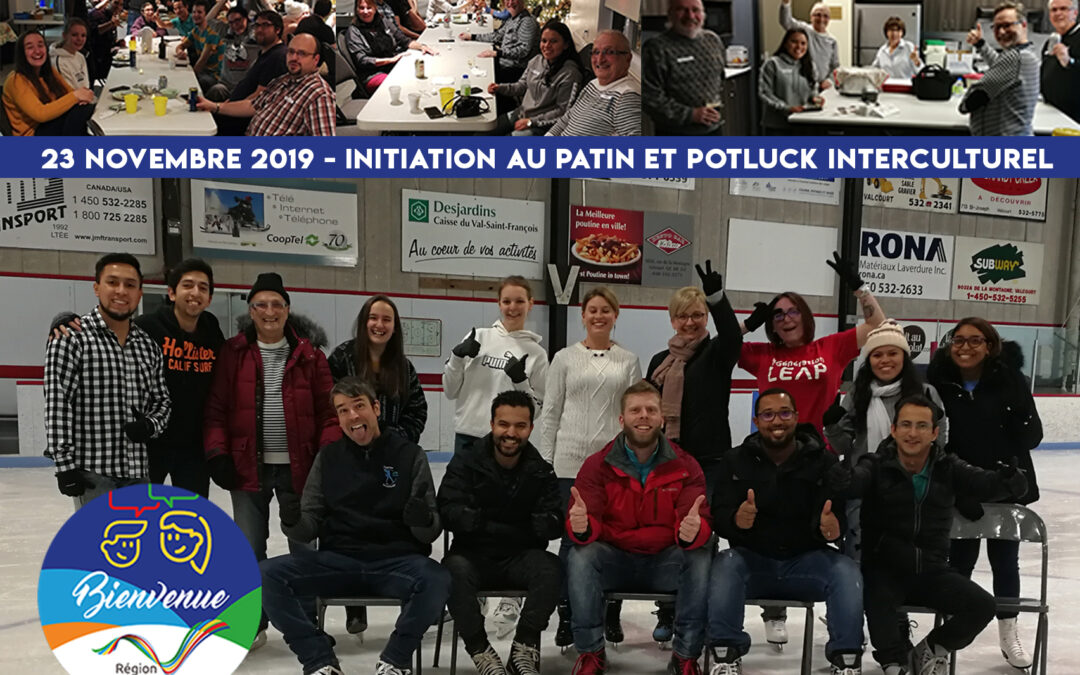 Initiation au patin et potluck interculturel pour favoriser le maillage