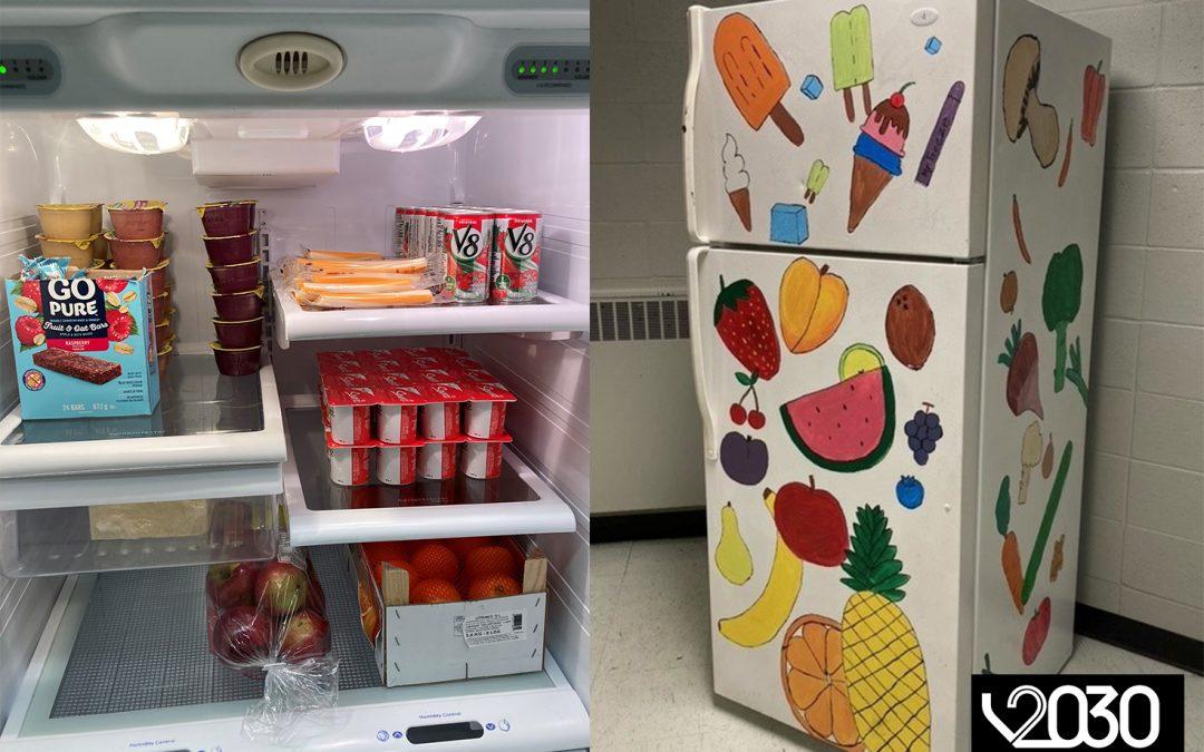Deux frigos, deux écoles, un objectif!